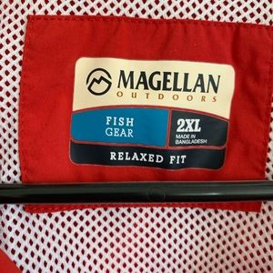 Magellan red fishing shirt